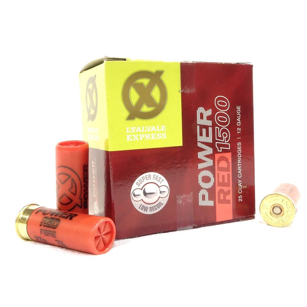 Lyalvale Express Express 12 Gauge - Power Red Shotgun Cartridges - 27gr - 7 1/2 Shot - Fibre x25
