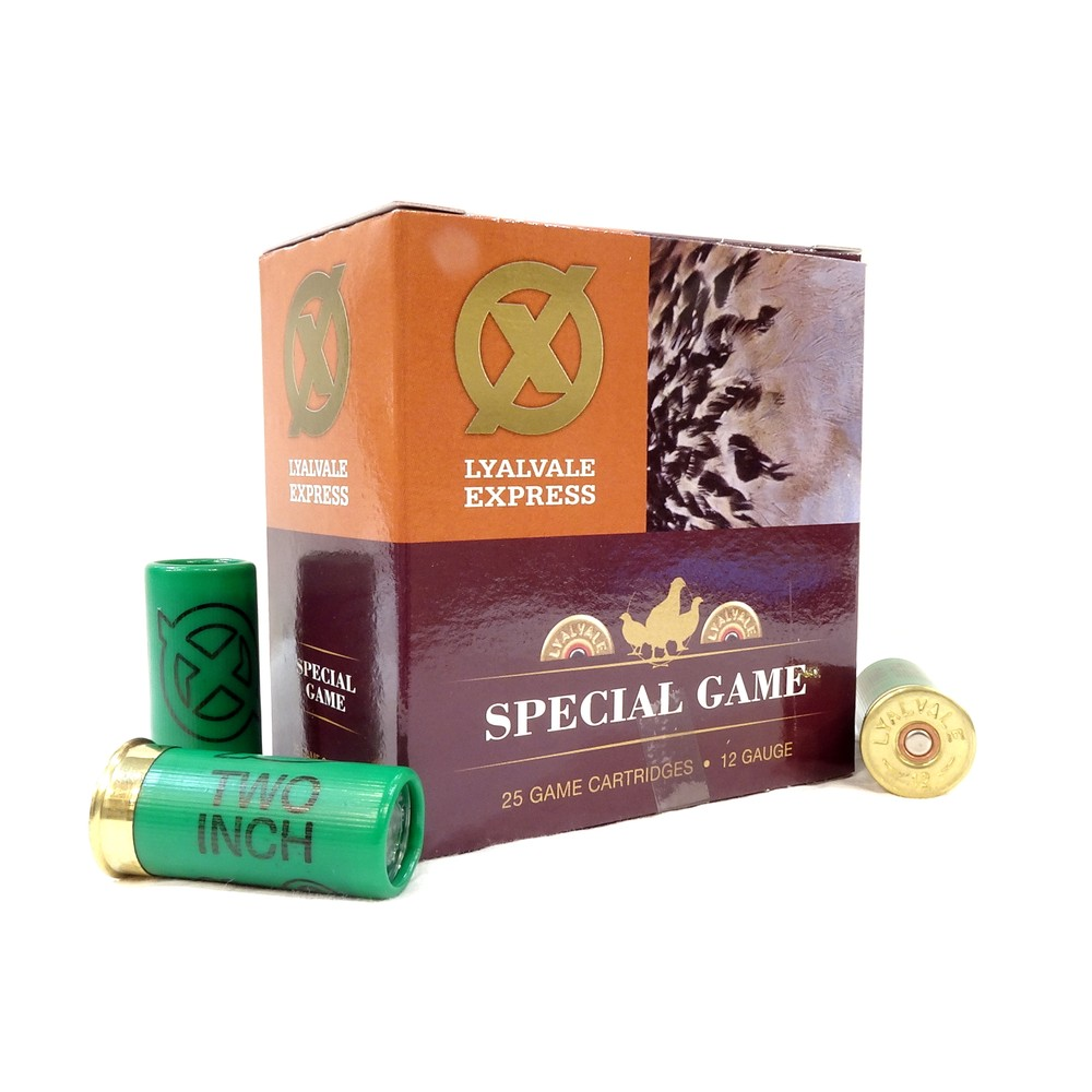 "Lyalvale Express Express 12 Gauge - Special Game 2"" Shotgun Cartridges - 26gr - 6 Shot - Fibre x25"