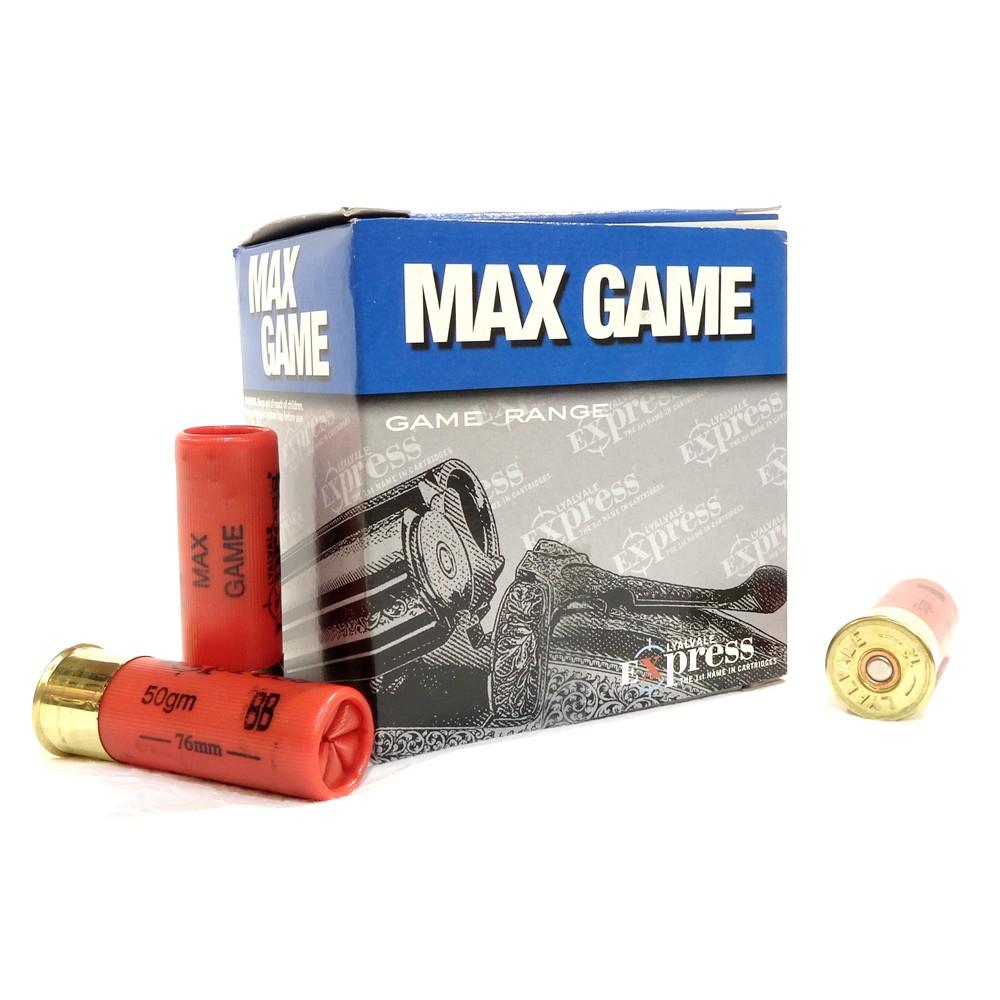 """Lyalvale Express Express 12 Gauge - Max Game 3"""" Shotgun Cartridges - 50gr - BB Shot - Plastic x25"""