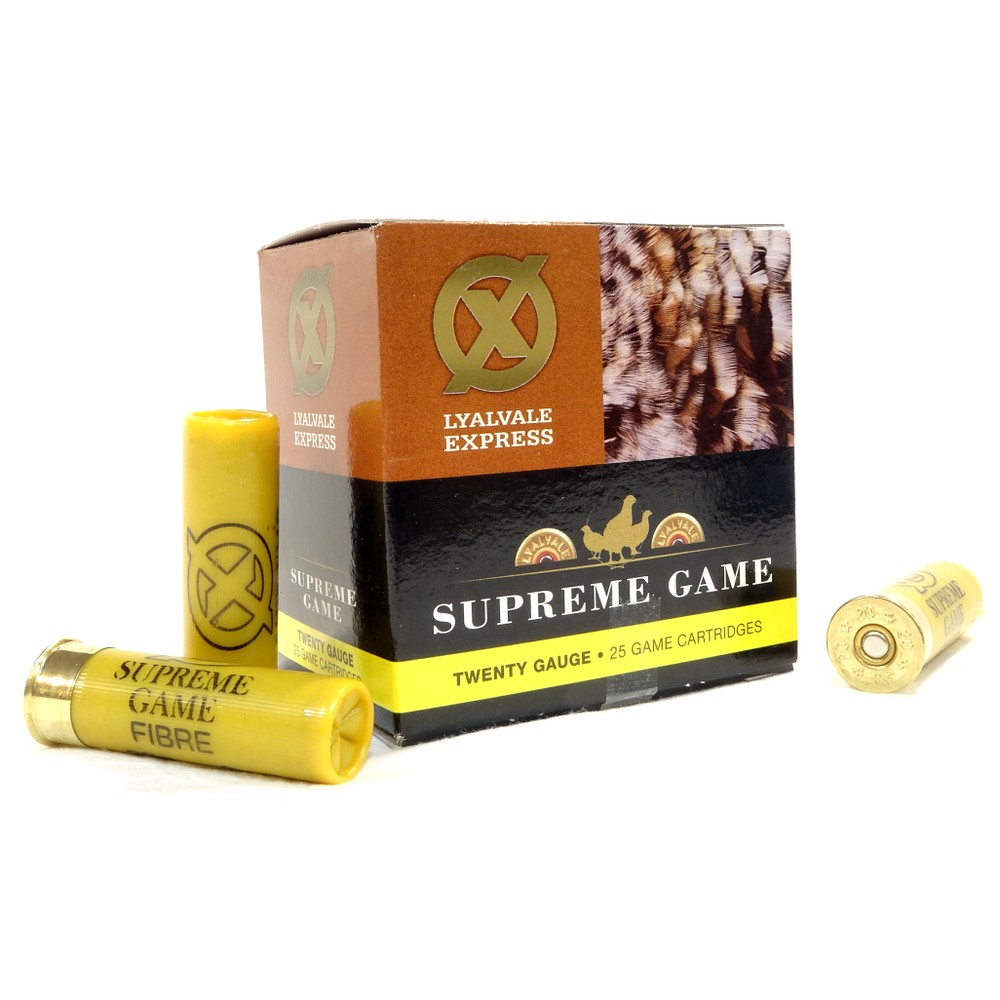Lyalvale Express Express 20 Gauge - Supreme Game Shotgun Cartridges - 25gr - 6 Shot - Fibre x250