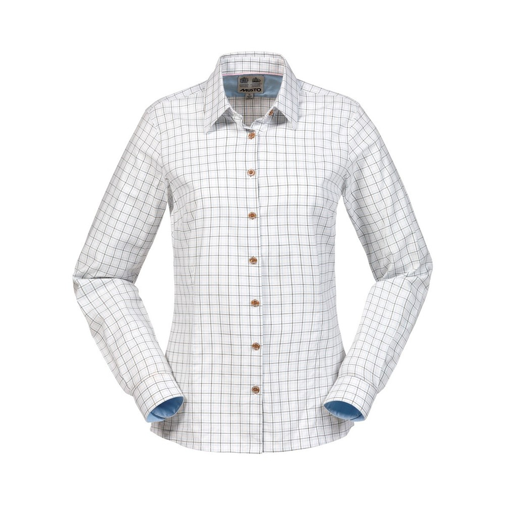 Musto Country Women's Shirt - Green Check Green Check