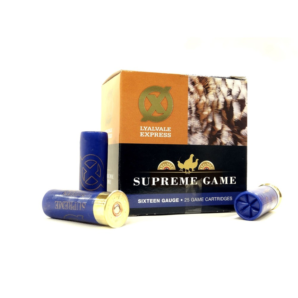 Lyalvale Express Express 16 Gauge - Supreme Game Shotgun Cartridges - 25gr - 6 Shot - Fibre x25