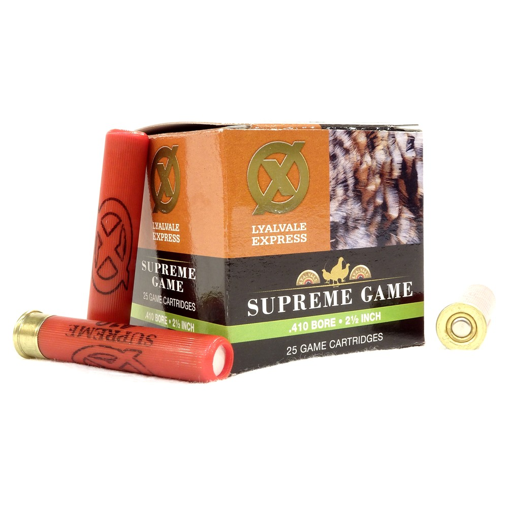 "Lyalvale Express Express 410 Gauge - 2.5"" - Supreme Game Shotgun Cartridges - 14gr - 6 Shot - Fibre x250"