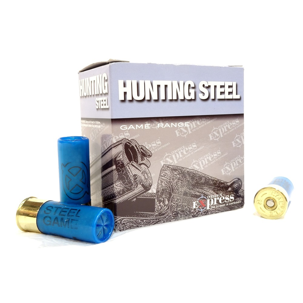 Lyalvale Express Express 12 Gauge - Hunting Steel Shotgun Cartridges - 32gr - 4 Shot - Plastic x25