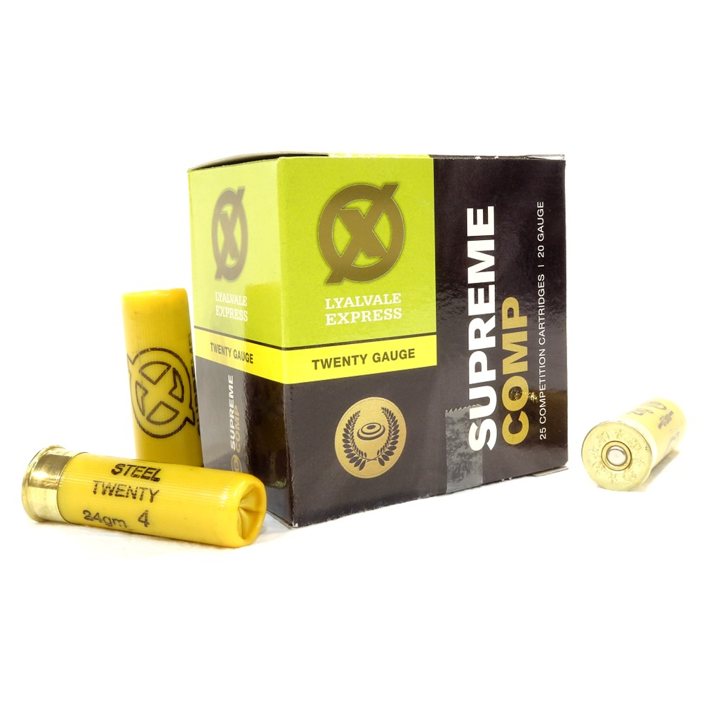 Lyalvale Express Express 20 Gauge - Supreme Game Steel Shotgun Cartridges - 24gr - 4 Shot - Plastic x25