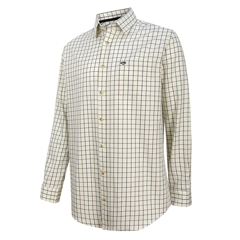 HOGGS OF FIFE Hoggs Balmoral Tattersall Shirt - Navy/Wine