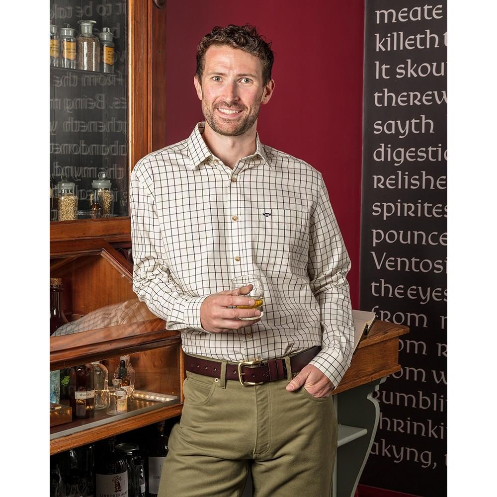 Hoggs Of Fife Hoggs Balmoral Tattersall Shirt - Navy/Wine Navy/Wine