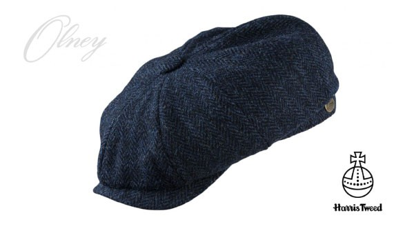 Olney Urban 4 Harris Tweed 8pc Cap - Navy Navy