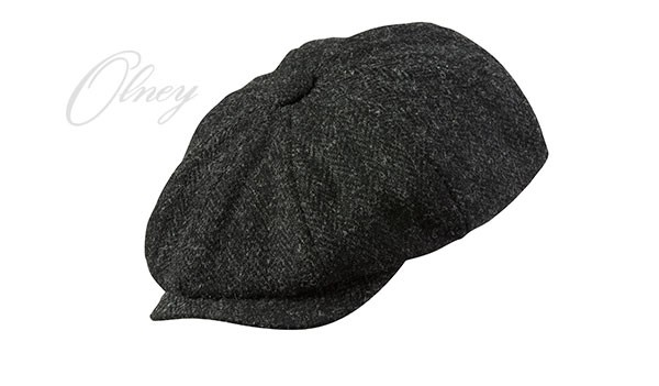 Olney Urban 4 Harris Tweed 8pc Cap Charcoal