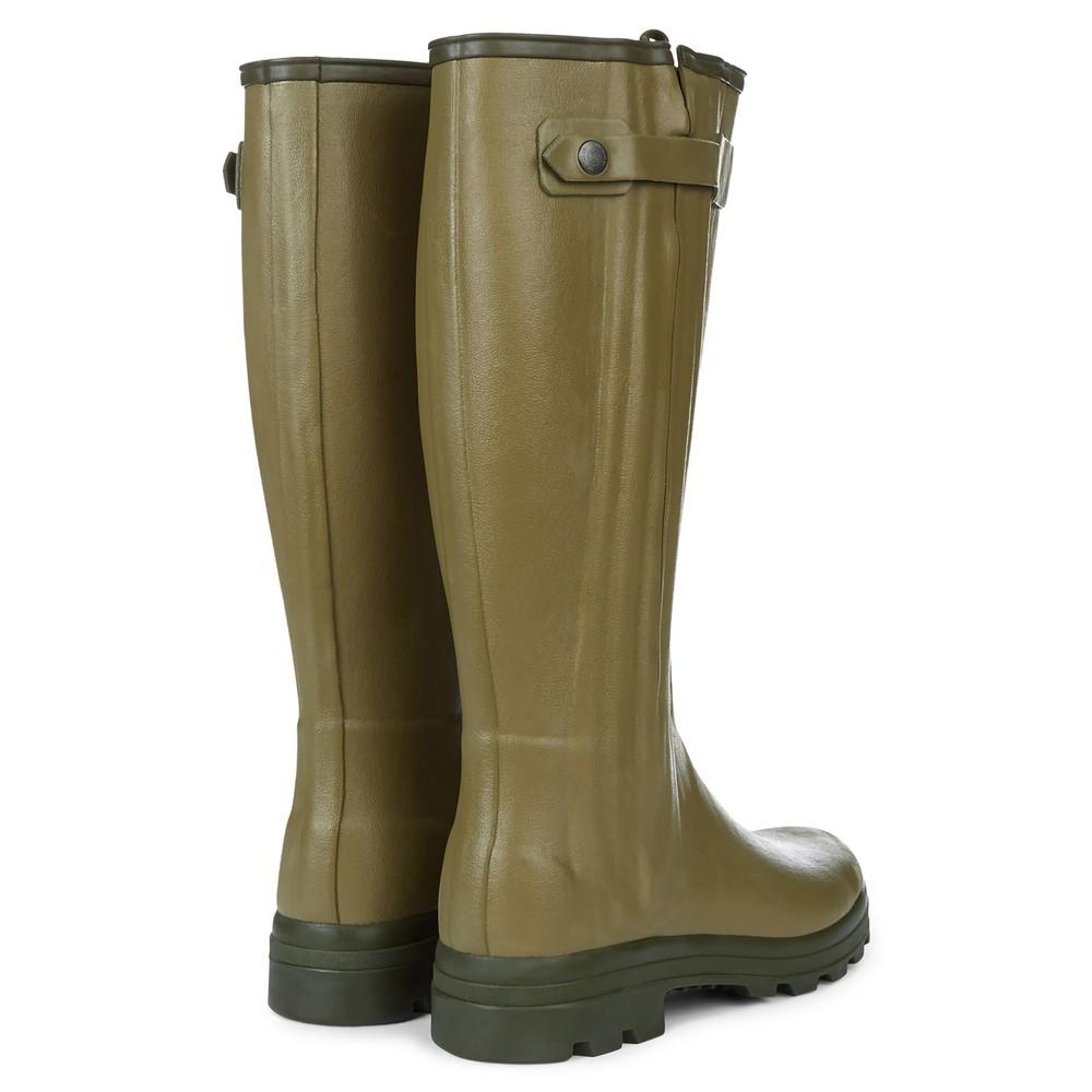 Le Chameau Chasseur Leather Lined Men's Wellington Boots Vert Vierzon
