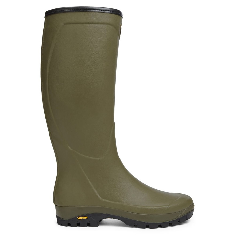 Le Chameau Country Vibram Cotton Lined Wellington - Green Green