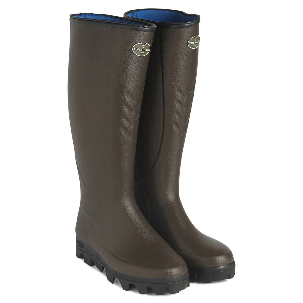 Le Chameau Le Chameau Ceres Neoprene Lined Wellington Boots - Brown