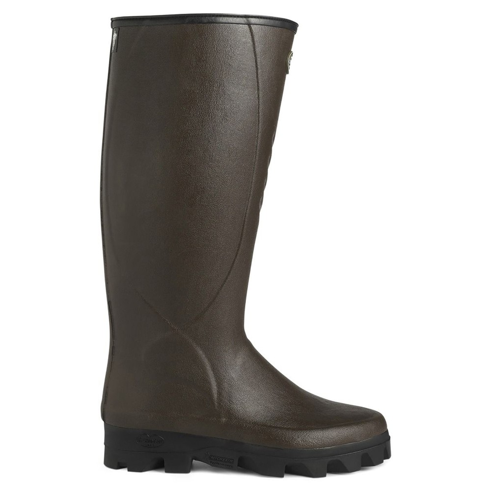 Le Chameau Ceres Neoprene Lined Wellington Boots - Brown Brown