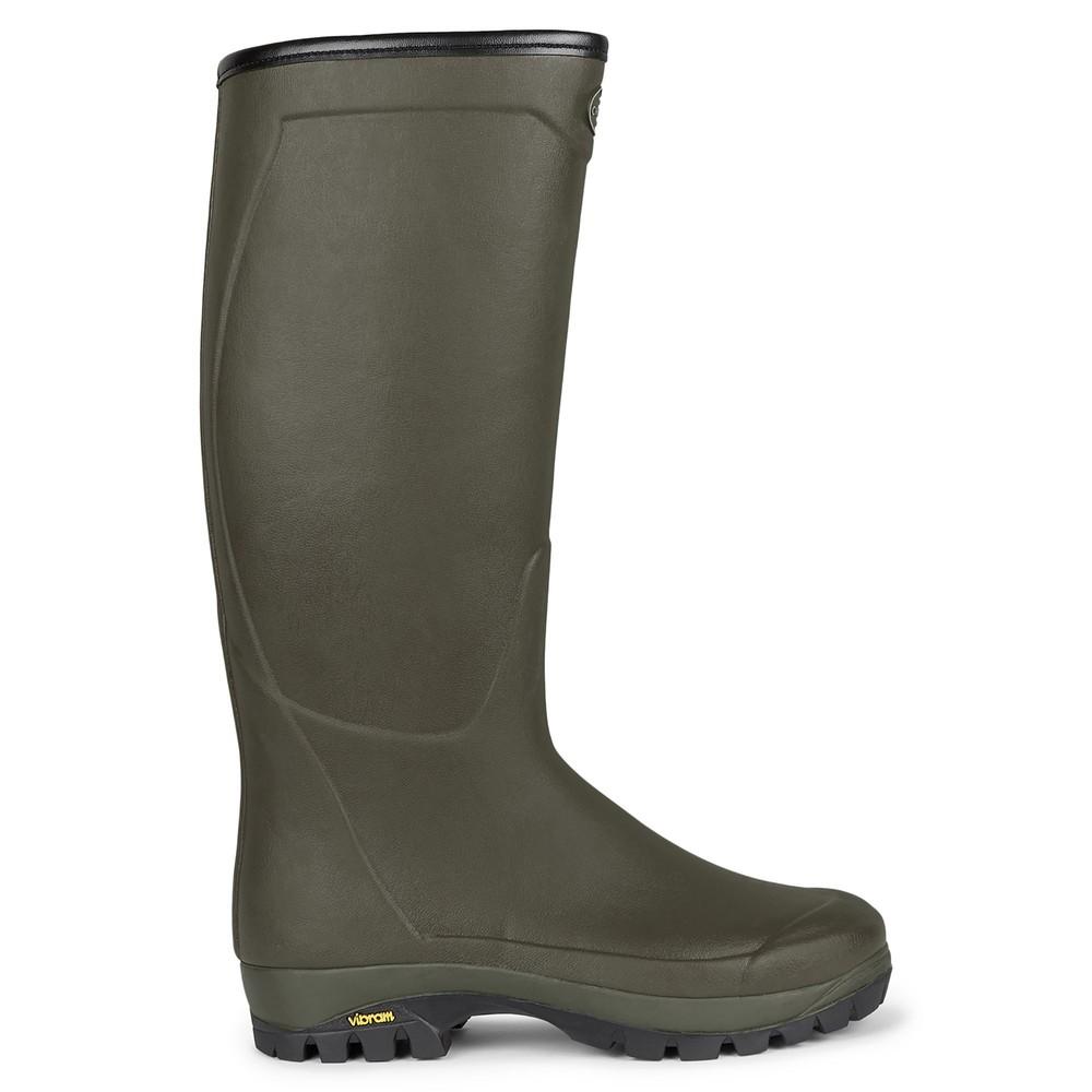 Le Chameau Country Vibram Neoprene Lined Unisex Wellington Boots Vert Chameau