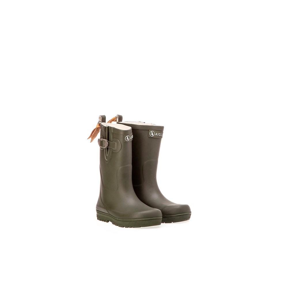Aigle Woody Pop Children's Boots - Khaki Khaki
