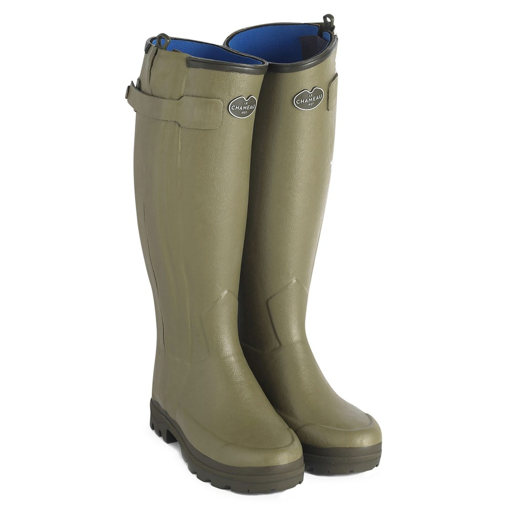 Le Chameau Le Chameau Chasseurnord Ladies Neoprene Lined Wellington - Green