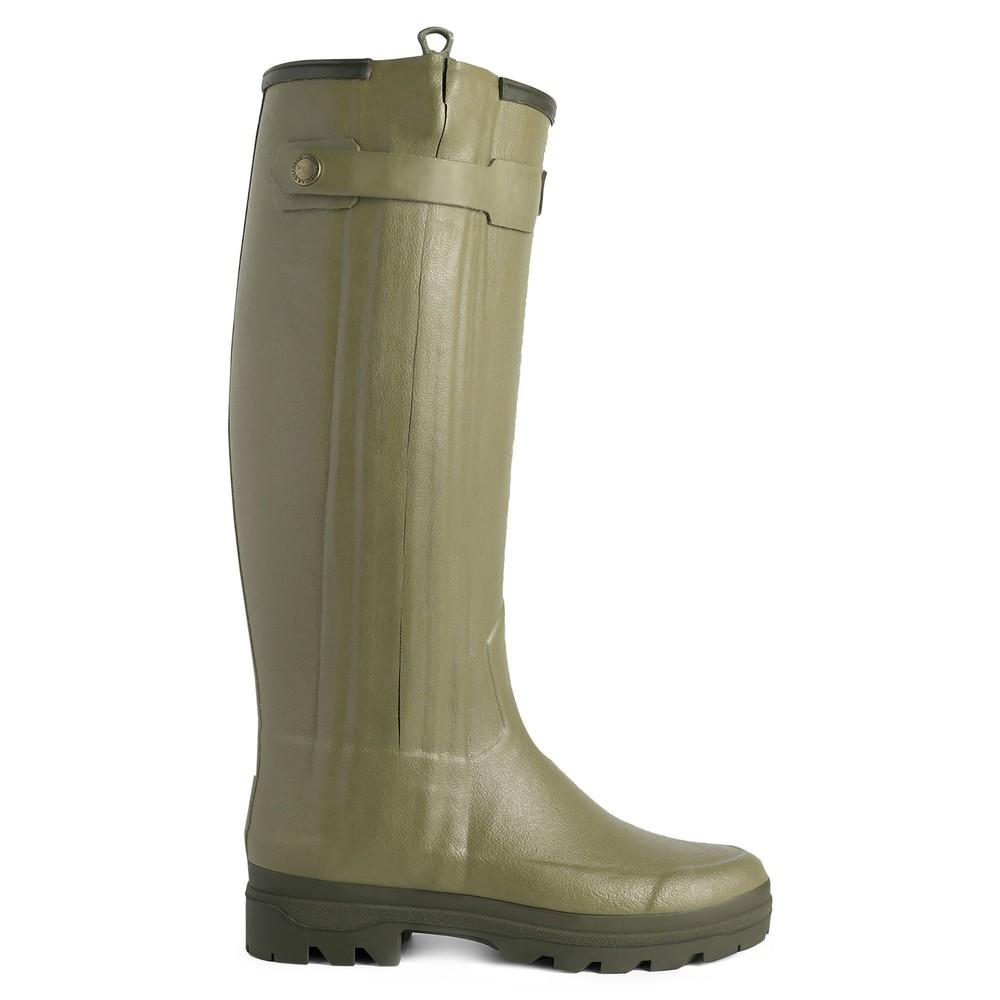 Le Chameau Chasseur Neoprene Lined Women's Wellington Boots Vert Vierzon