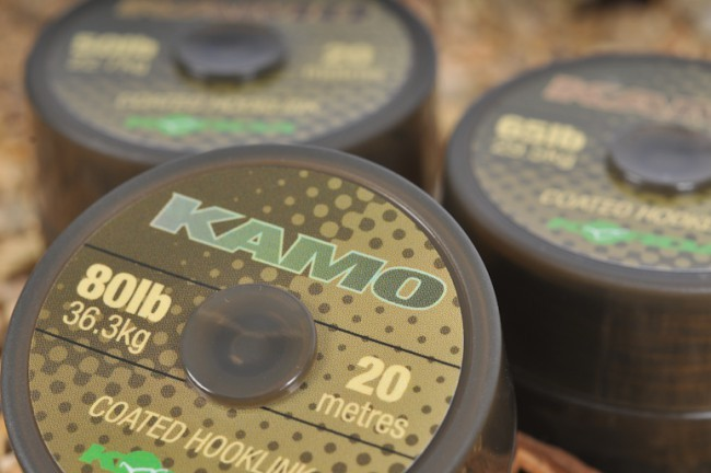 Korda Kamo Coated Braid Hooklink - 20m Kamo