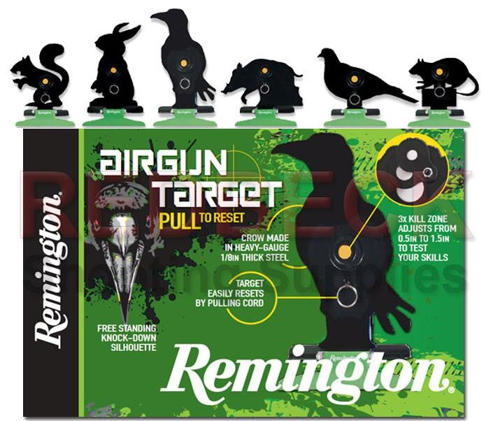 Remington Free Standing Pull/Reset Target - Rabbit Black