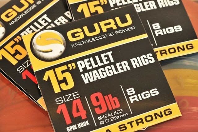 Guru Pellet Waggler Ready Rigs with Bait Bands - 15""
