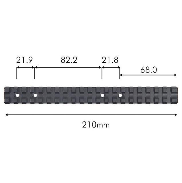 Contessa Tikka T3/T3x Picatinny Rail - Extended - 0 MOA