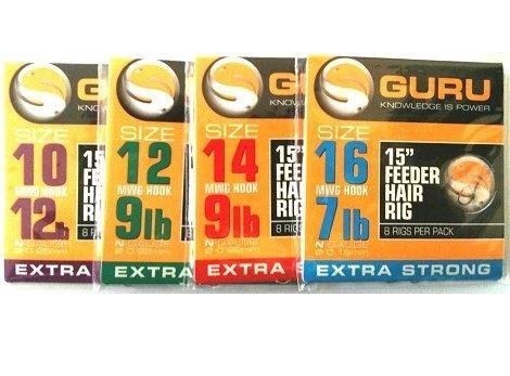 """Guru Feeder Hair Rigs - 15"""""""