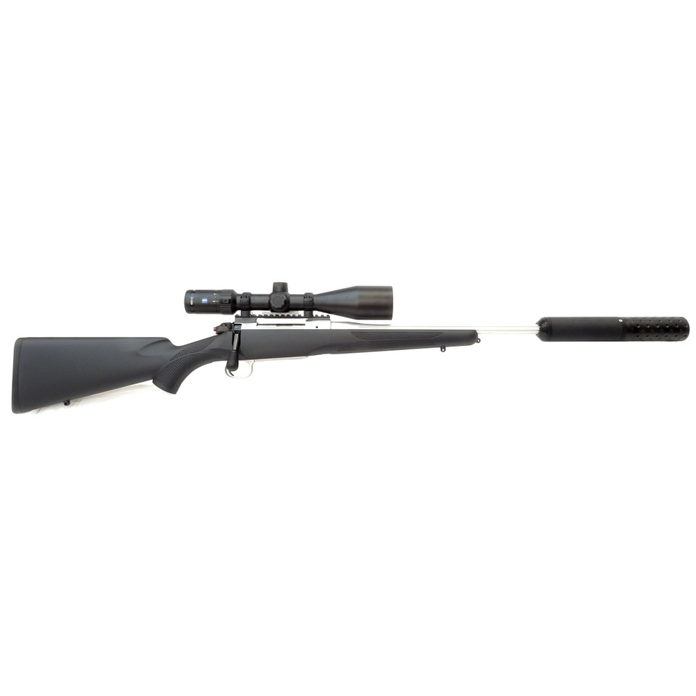 Mauser M12 Impact Rifle Package - Silver - .243 Synthetic
