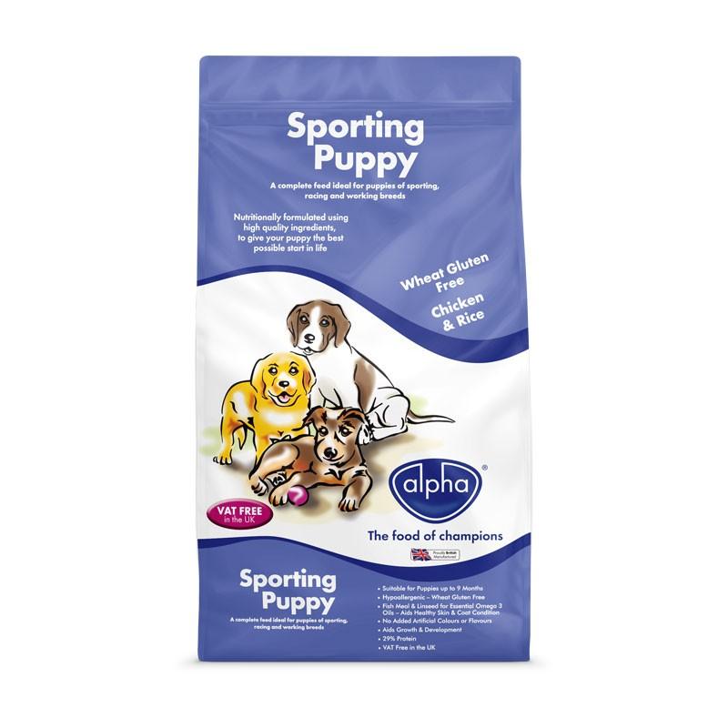 Alpha Sporting Puppy 15kg – 29% Protein Dog Food
