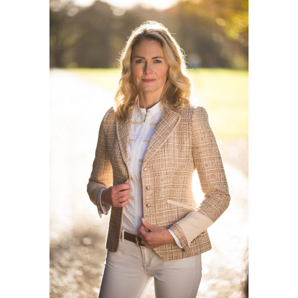 Welligogs Venice Fitted Jacket - Pale Gold Pale Gold