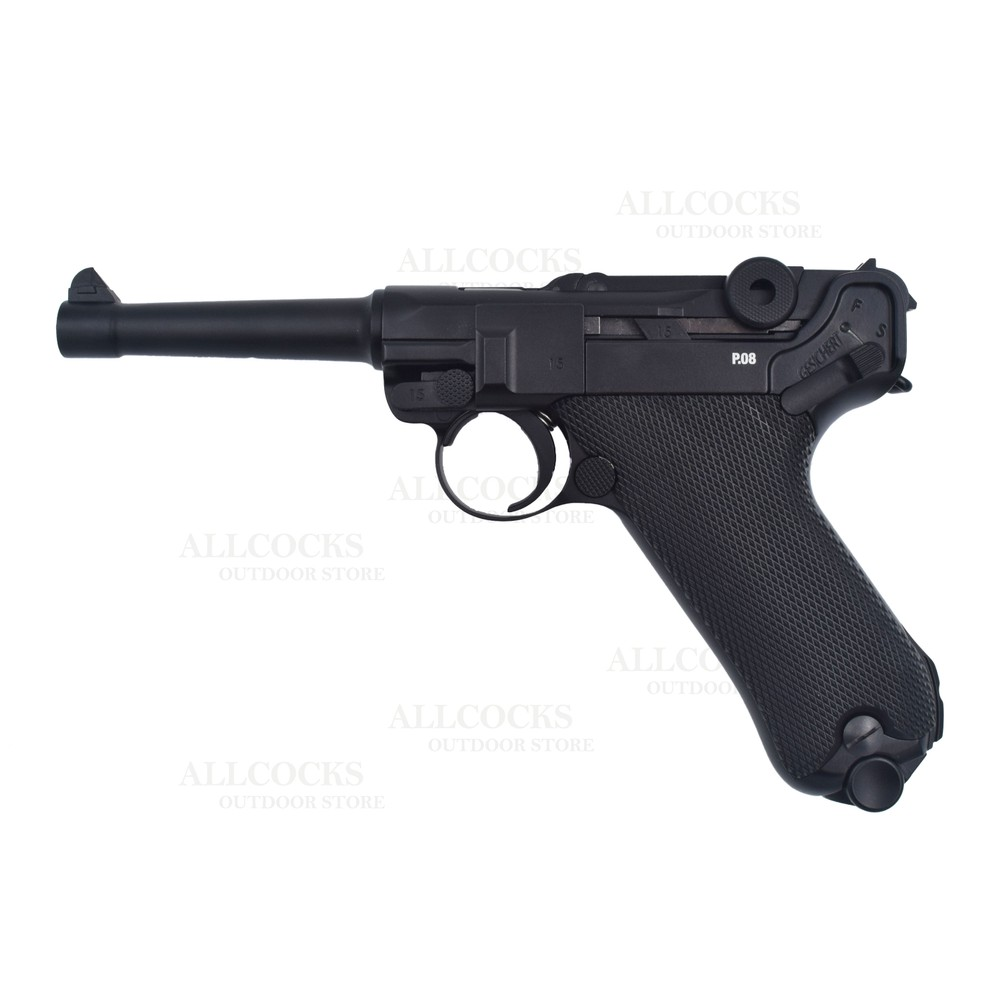 Umarex Legends Luger PO8 CO2 Air Pistol - Blowback - 4.5mm BB