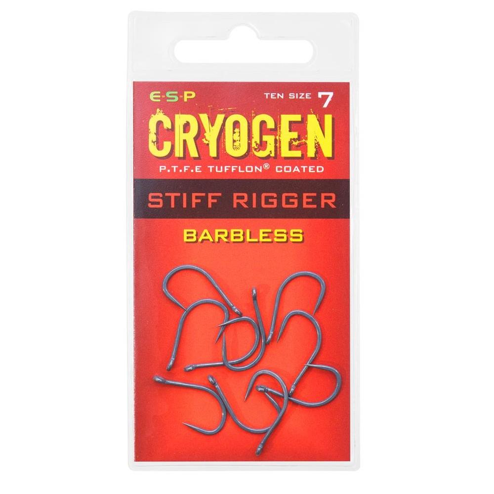 ESP Cryogen Stiff Rigger Hooks - Barbless Charcoal
