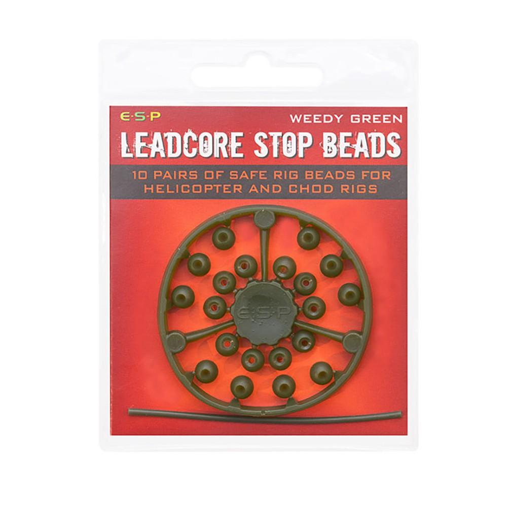 ESP Leadcore Stop Beads - Weedy Green