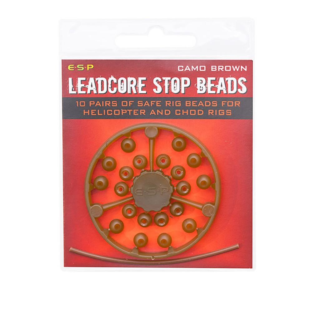 ESP Leadcore Stop Beads - Camo Brown