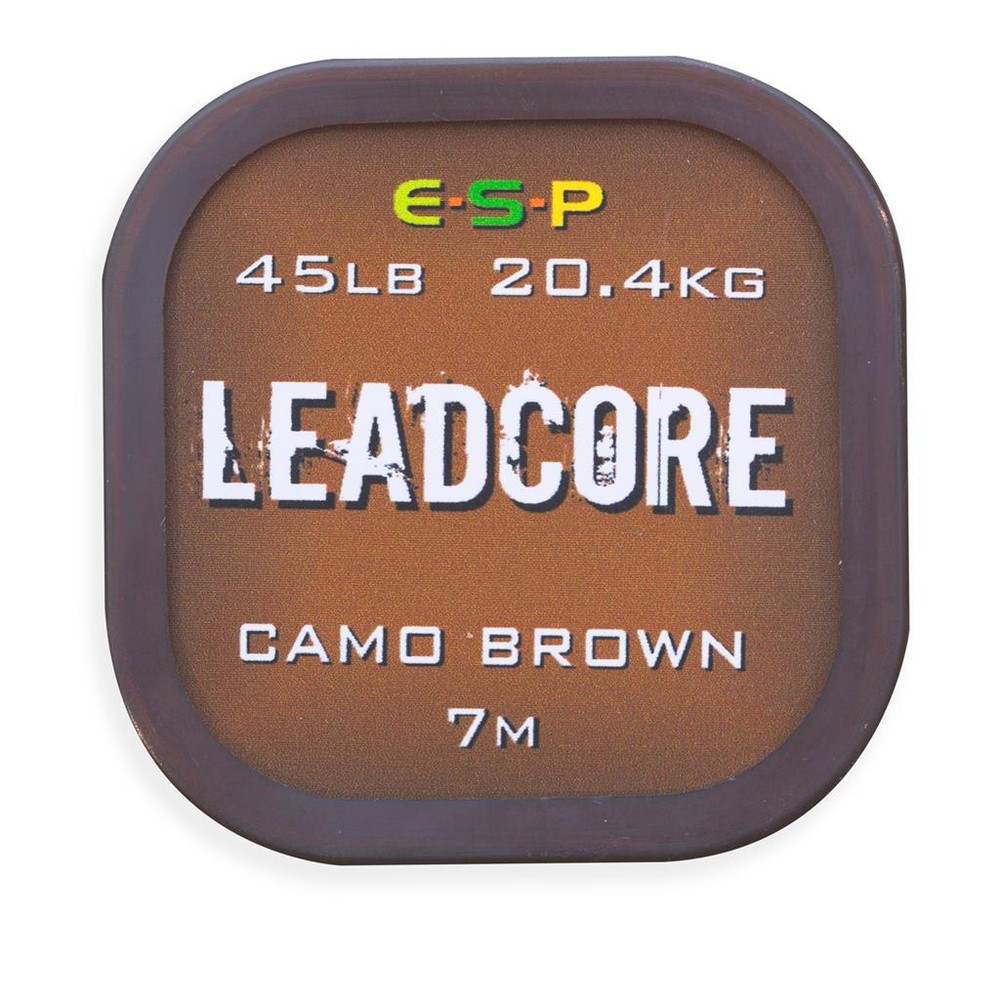 ESP Leadcore Leader 7m - Camo Brown