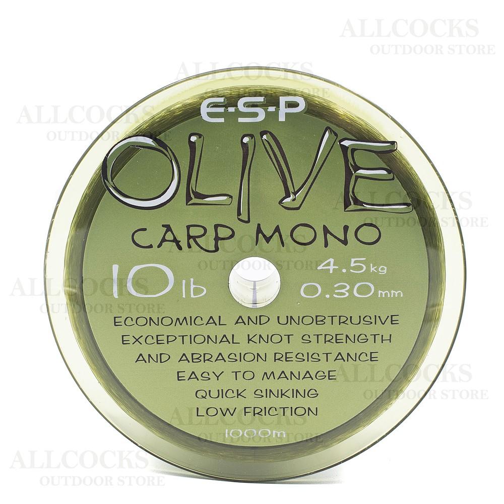 ESP Olive Carp Mono Line - 10lb