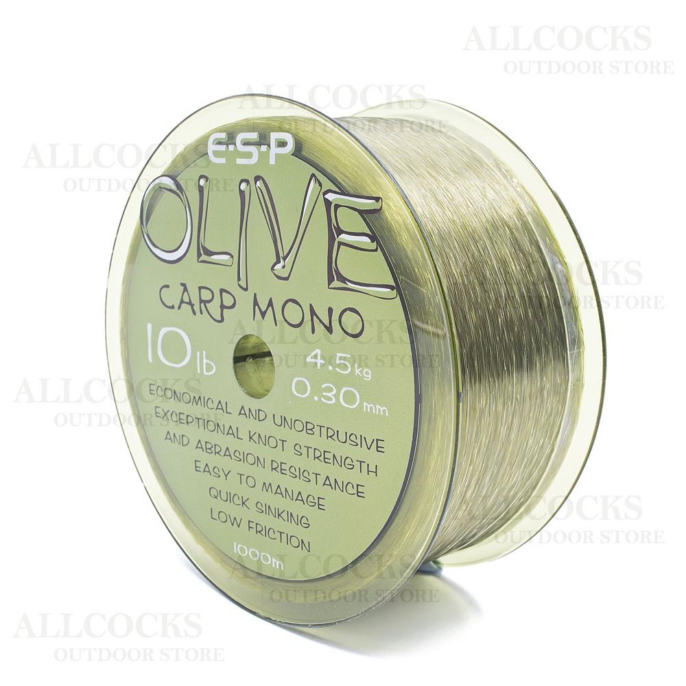 ESP Olive Carp Mono Line - 10lb Transparent