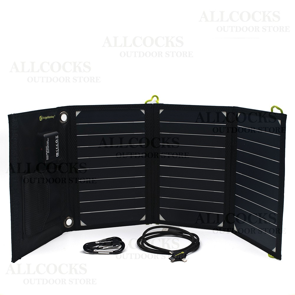RidgeMonkey Vault 16W Solar Panel Black