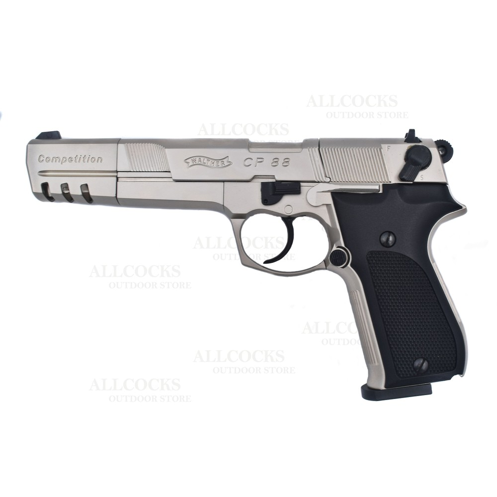 Umarex Walther CP88 Competition CO2 Air Pistol - Nickel - 5.6