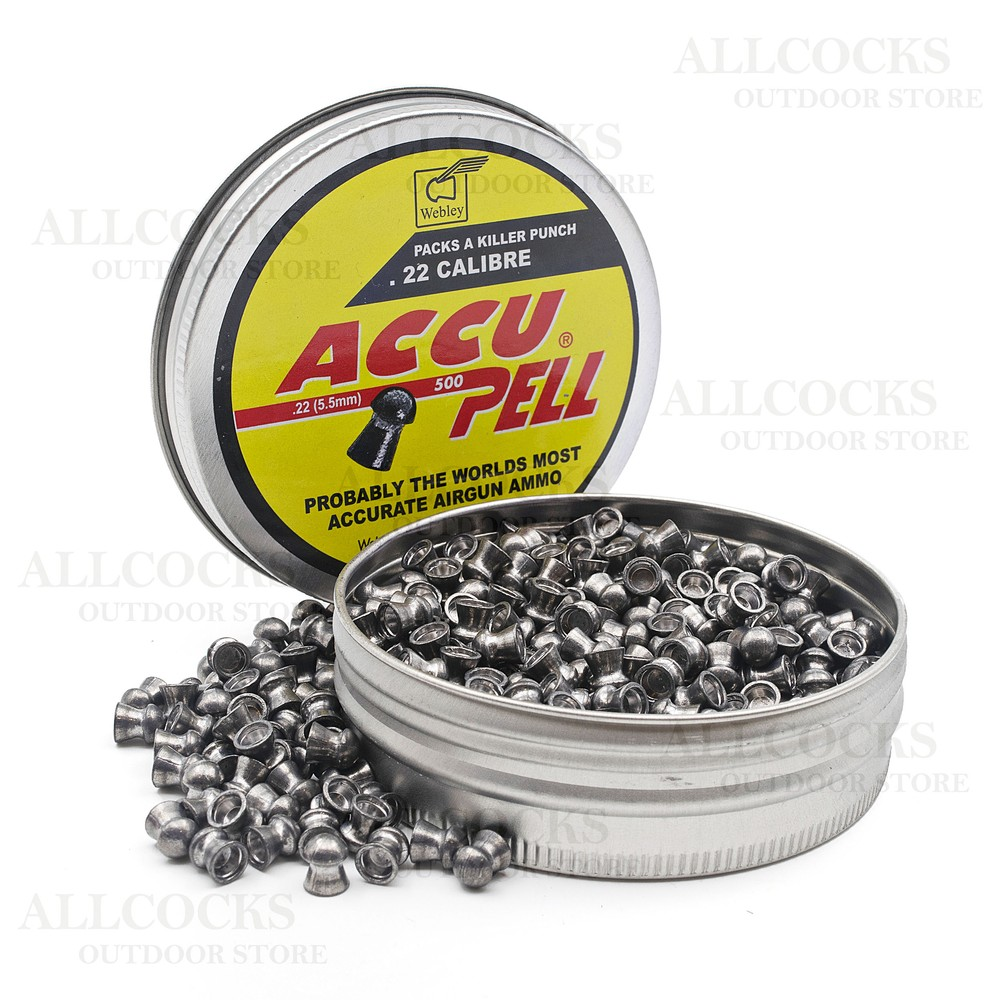 Webley Accupell Domed Air Gun Pellets - .22