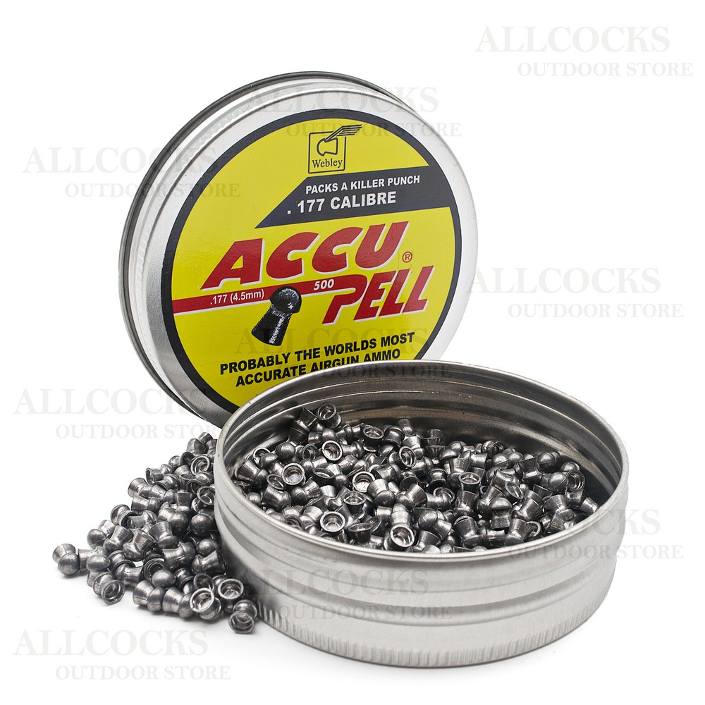 Webley Accupell Domed Air Gun Pellets Yellow
