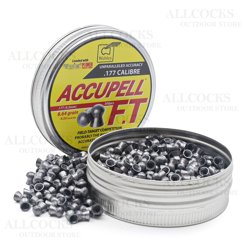 Webley Accupell FT Competition Air Gun Pellets - .177