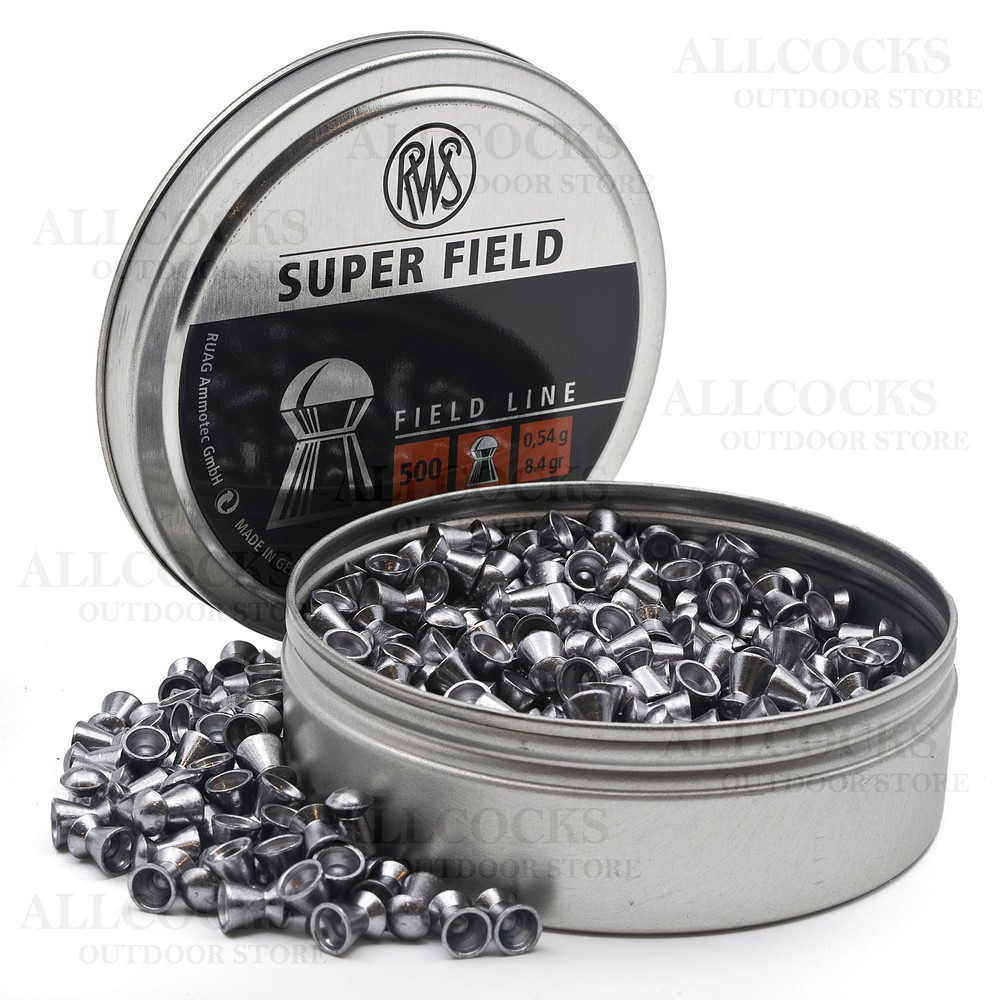 RWS Superfield Pellets - .177 - 4.52 Black & Dark Grey