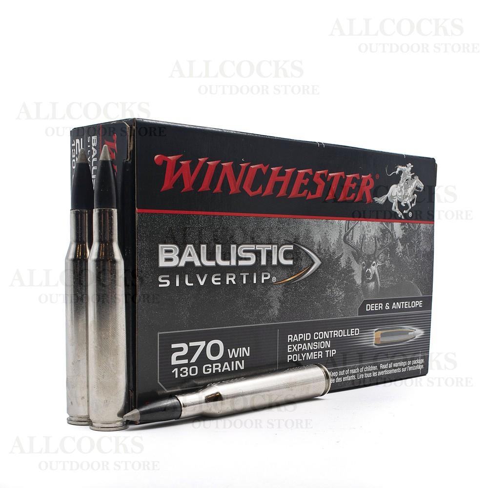 Winchester .270 Ammunition - 130gr - Ballistic Silvertip