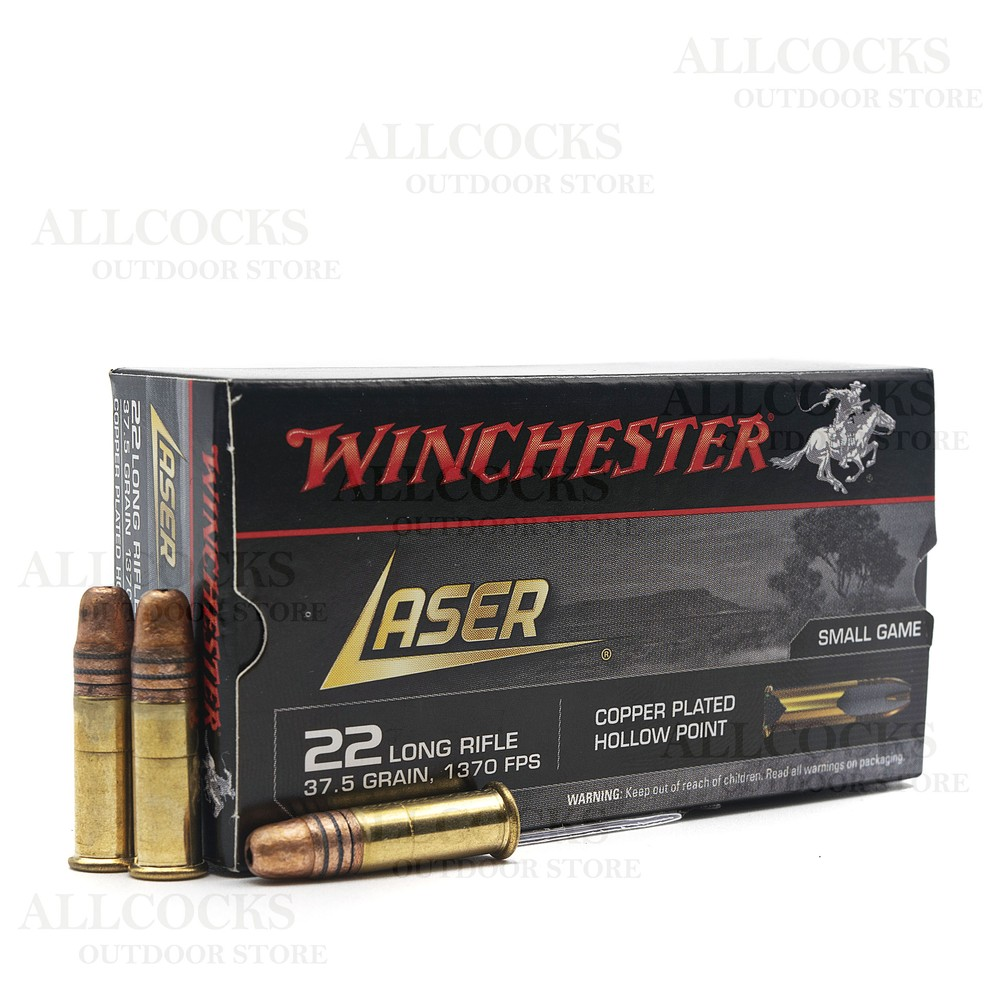Winchester .22LR Ammunition - 37.5gr - Laser Copper Plated Hollow Point