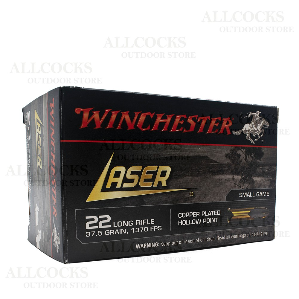Winchester .22LR Ammunition - 37.5gr - Laser Copper Plated Hollow Point Unknown
