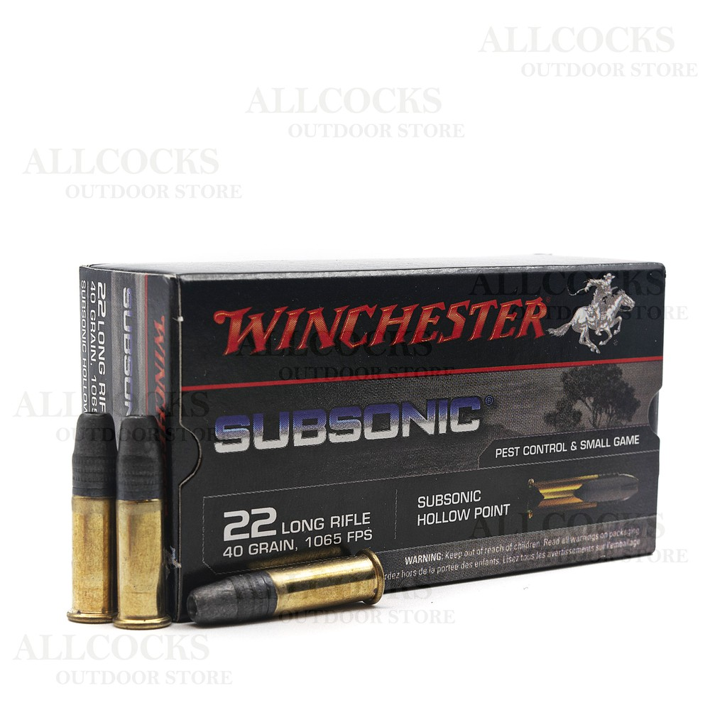 Winchester .22LR Ammunition - 40gr - Subsonic Hollow Point