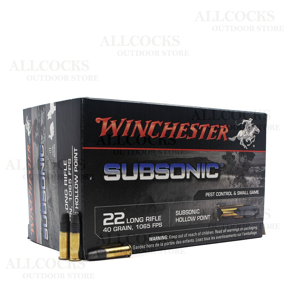 Winchester .22LR Ammunition - 40gr - Subsonic Hollow Point Unknown