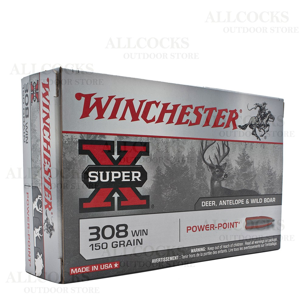 Winchester .308 Ammunition - 150gr - Super-X Power-Point Unknown