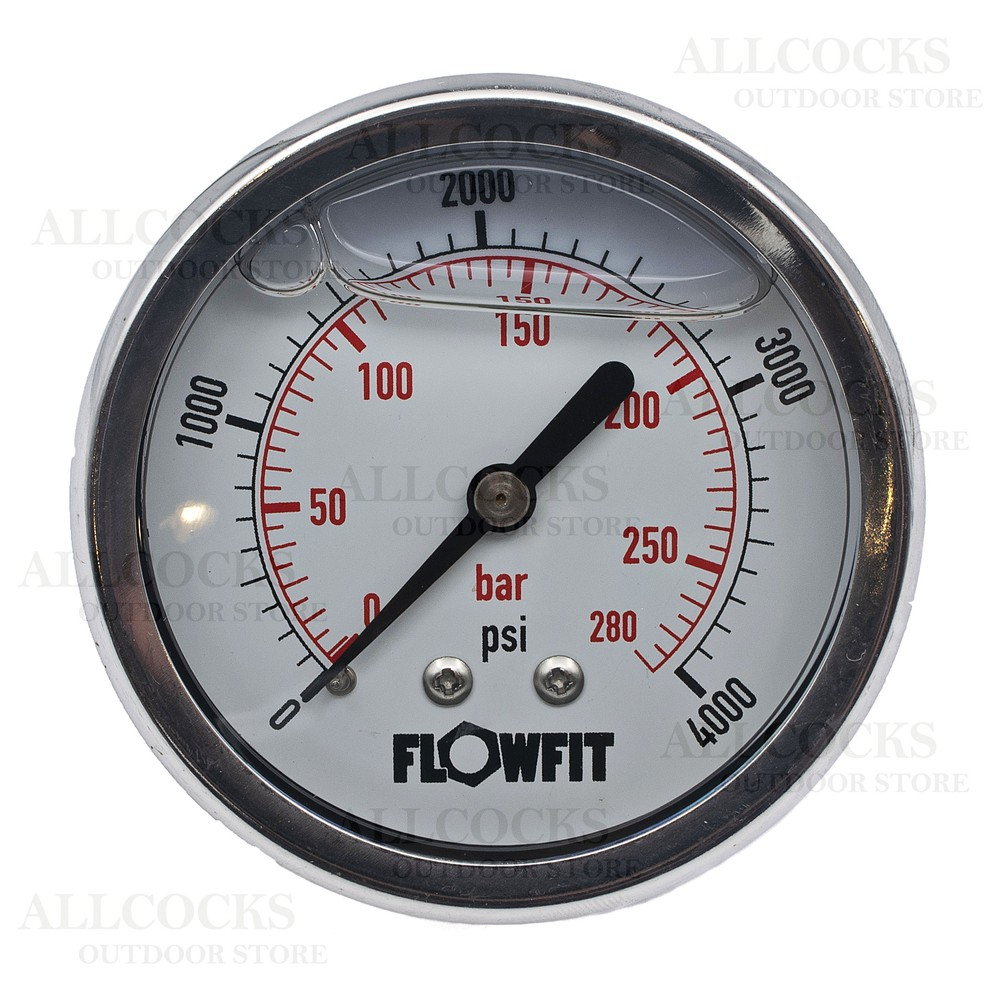 Allcocks Pressure Gauge 63mm 1/4 & 1/8""