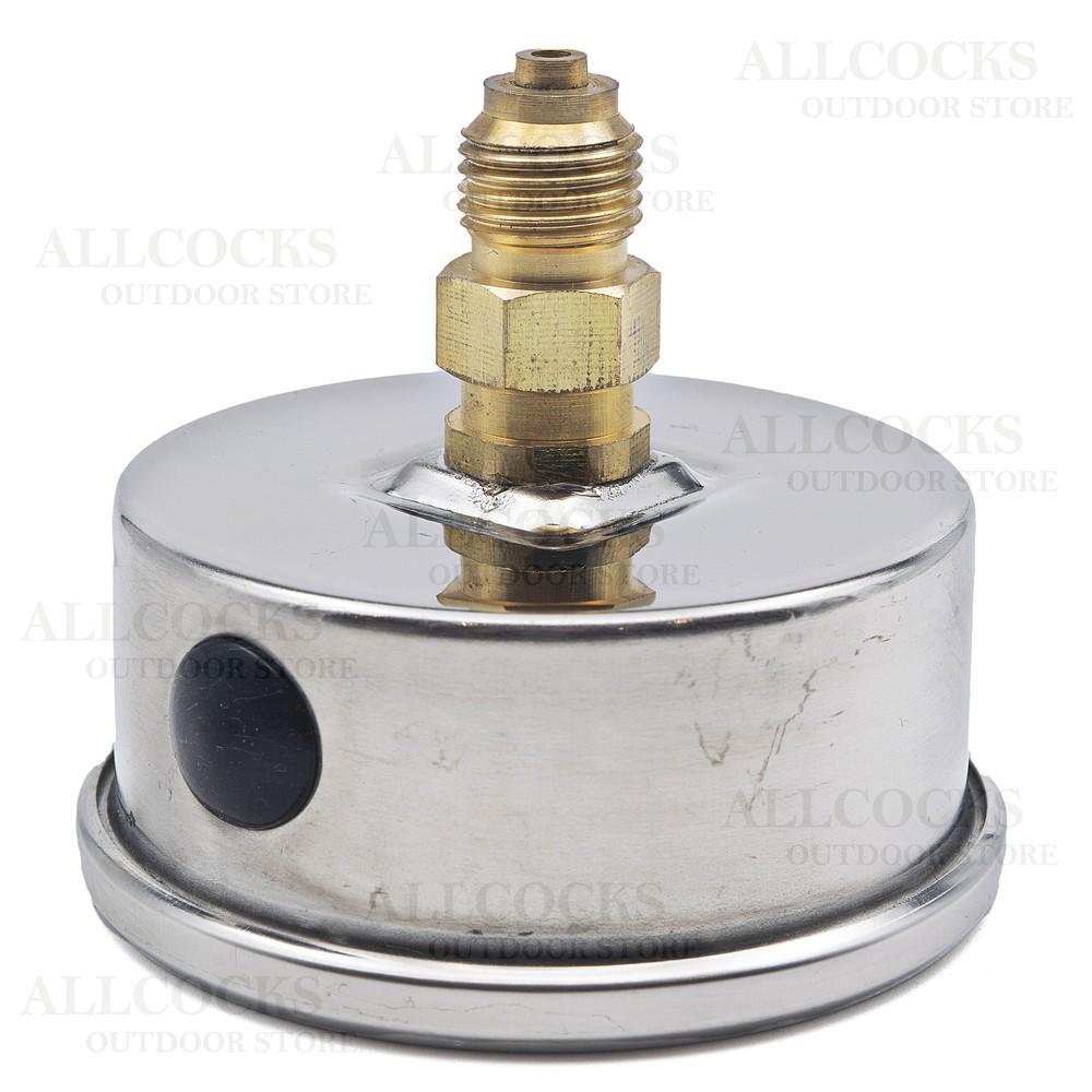Allcocks Pressure Gauge 63mm 1/4 & 1/8